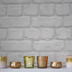 Gold tea light holders wedding decorations available from @theweddingomd The Wedding of my Dreams