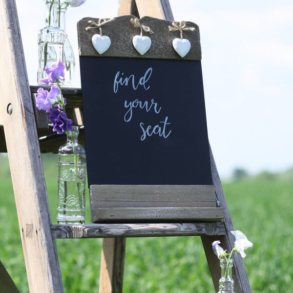 blackboard wedding sign table plan find your seat