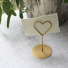 gold heart name card holders available from The Wedding of my Dreams