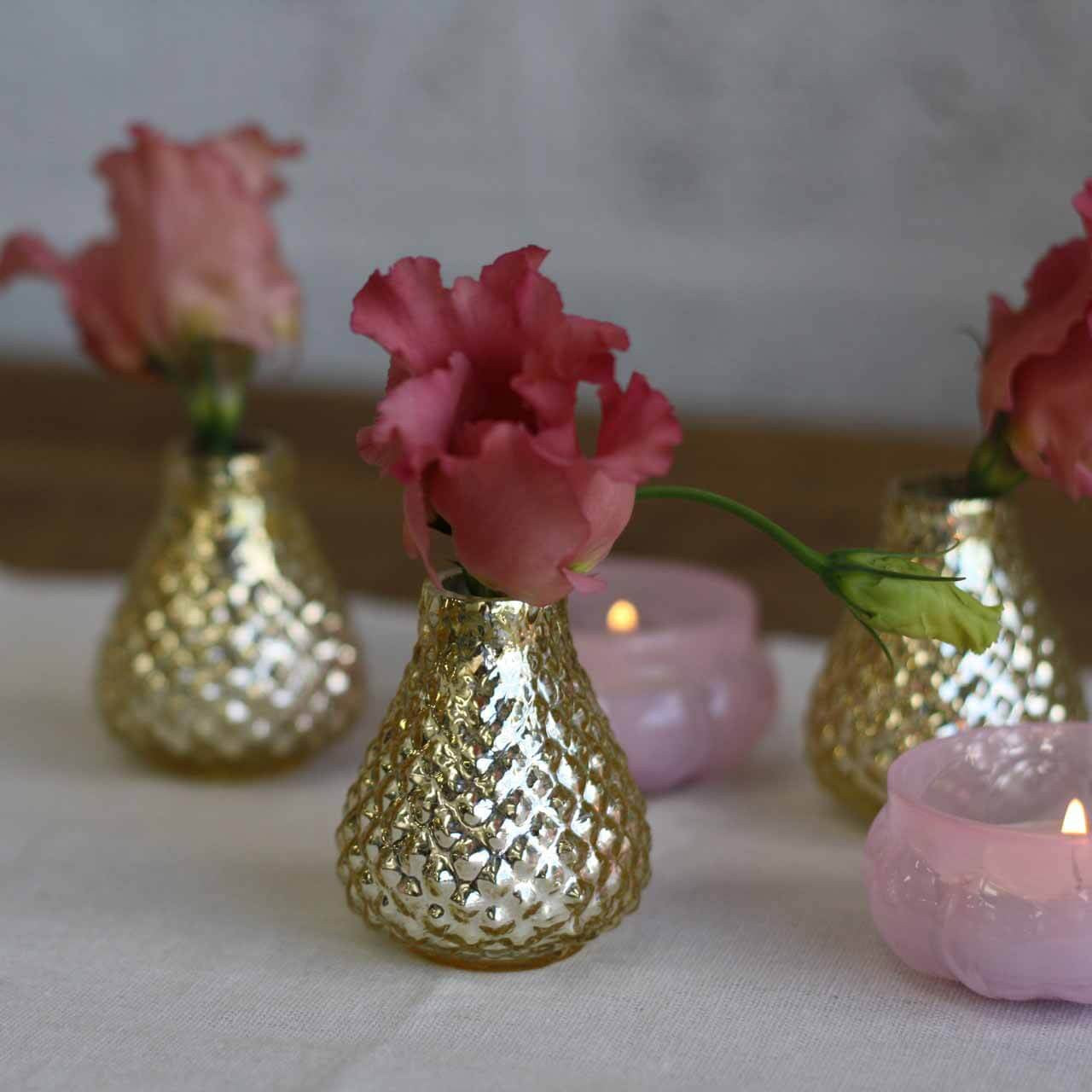 Tiny gold bud vases set of 5 the wedding of my dreams gold bud vases small reviewsmspy