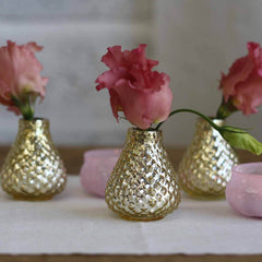 Gold bud vases small
