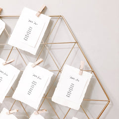 Gold Wedding Table Plan Frame with 10 Pegs www.theweddingofmydreams.co.uk