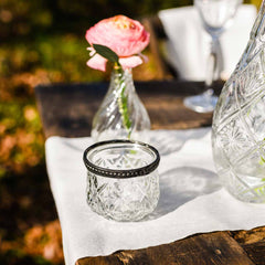 Grandmas Pressed Glass Tea Light Holder for Weddings - available from @theweddingomd