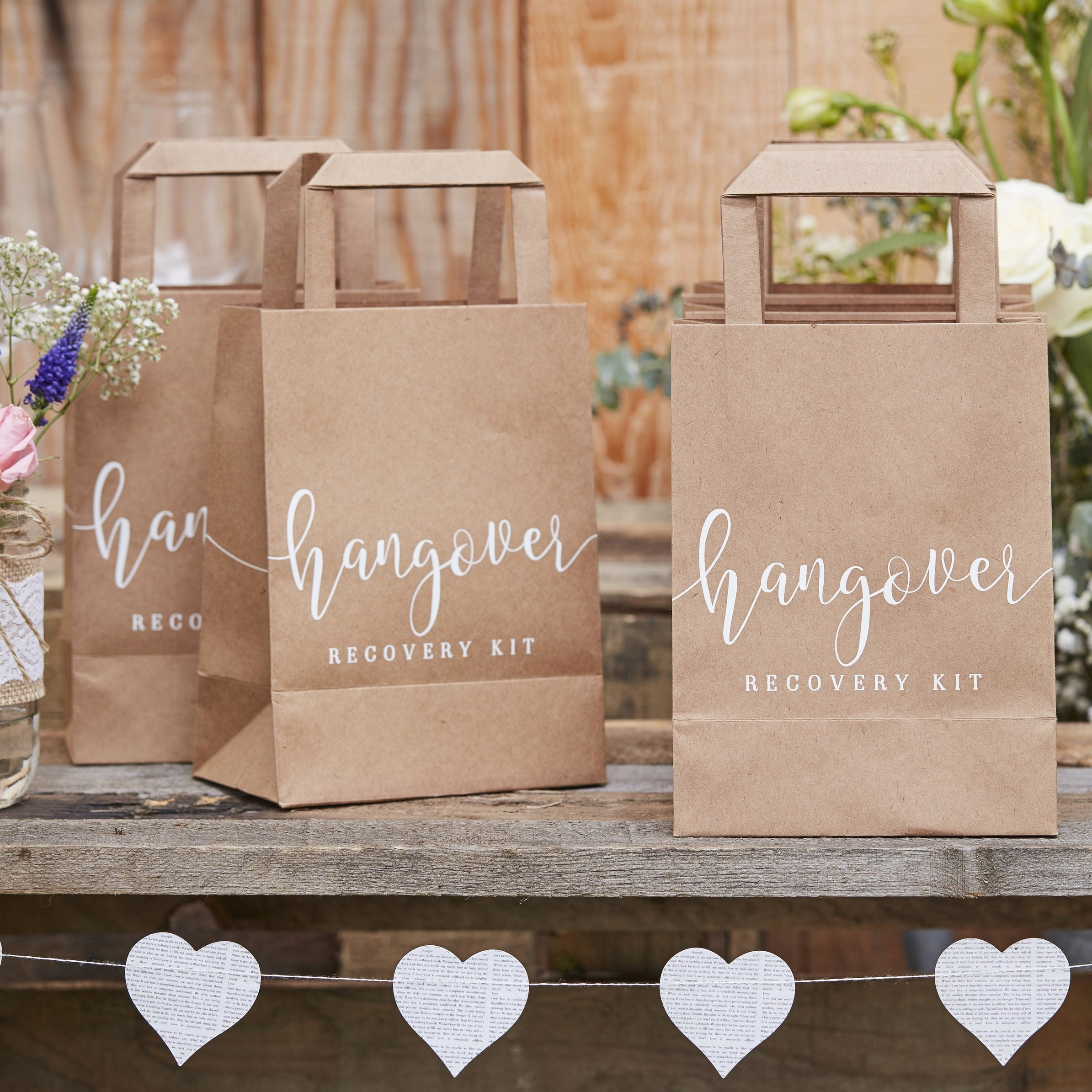 Hangover kit brown paper bags 5 pack the wedding of my dreams hangover kit wedding favour bags available from the wedding of my dreams solutioingenieria Choice Image