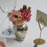 Handmade Mercury Pale Gold Posy Vases for wedding place settings - available from @theweddingomd The Wedding of my Dreams