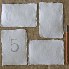 blank card for wedding table numbers torn edges