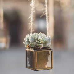 Brass Hanging Tea Light Holder
