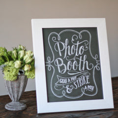 White Frame For Chalkboard Prints