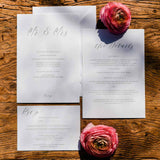 Calligraphy Wedding Invitation Suite - Printable wedding stationery