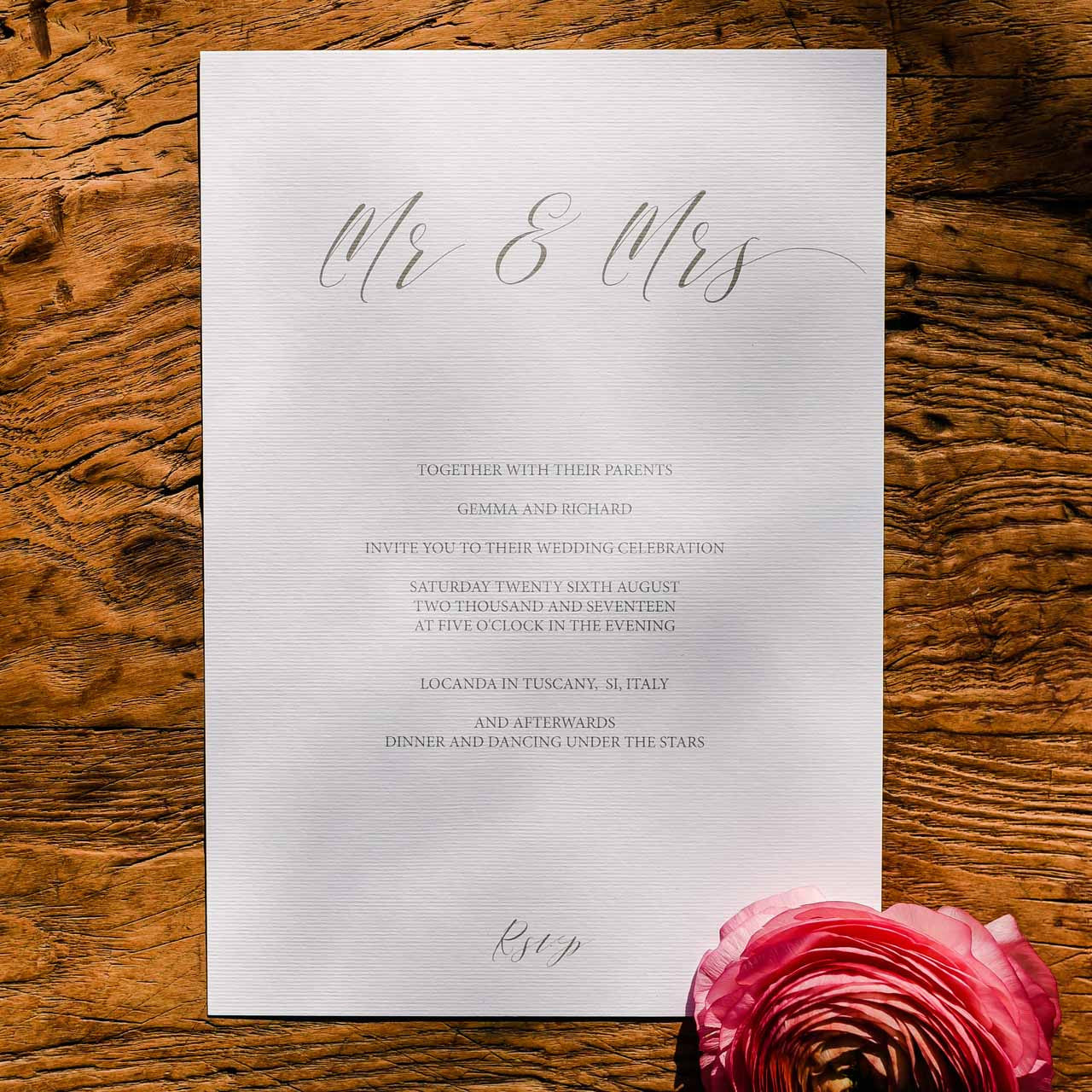 Calligraphy Wedding Stationery Suite - Digital Download / Printable ...