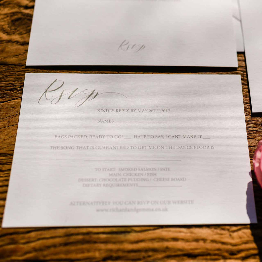 Calligraphy Wedding Stationery Suite Digital Download