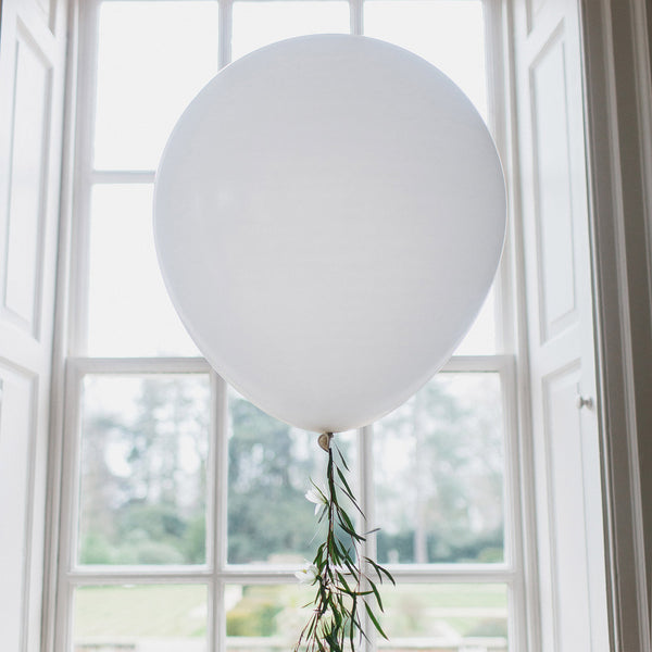 Giant White Round Balloons 36 Quot Pack Of 3 The Wedding