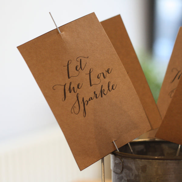 Printable: Let The Love Sparkle Sparkler Tags