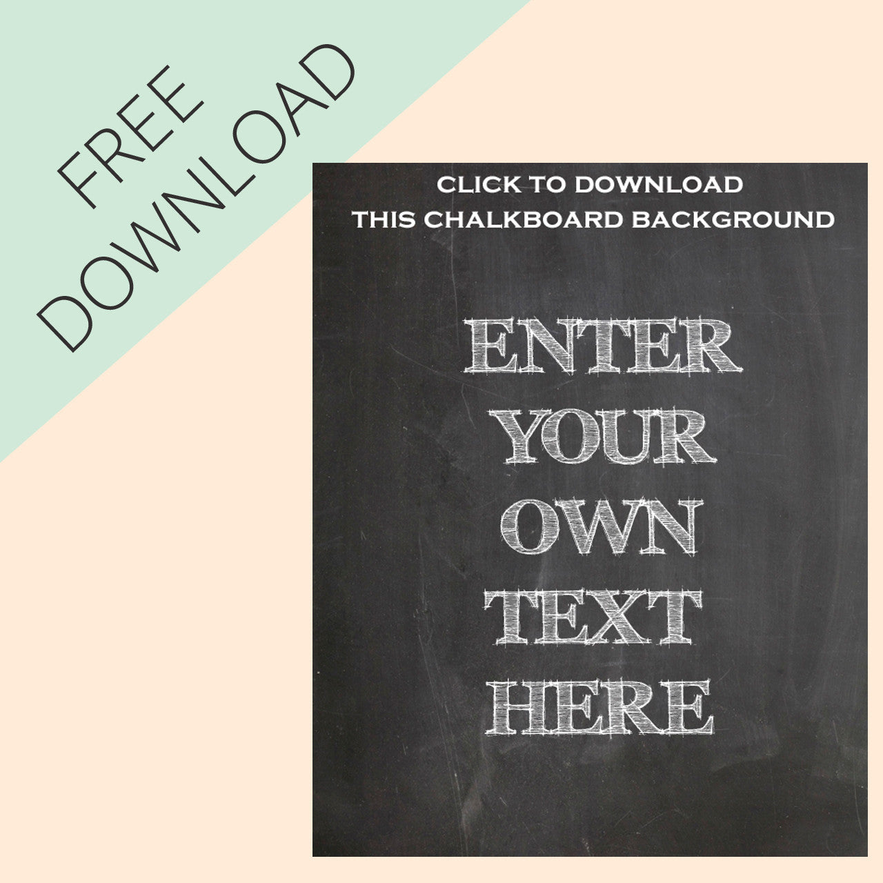 photograph regarding Free Chalkboard Printable titled Produce Your Personal Chalkboard Symptoms - Totally free Printable The