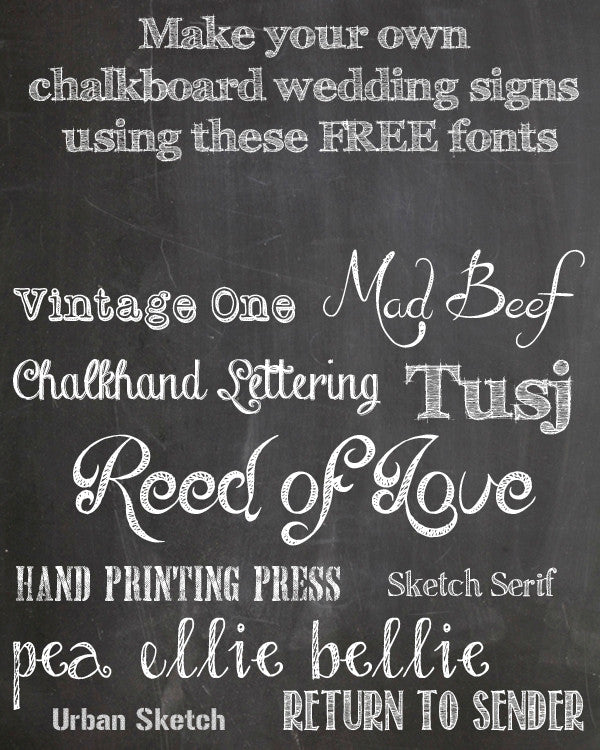 Make Your Own Chalkboard Signs