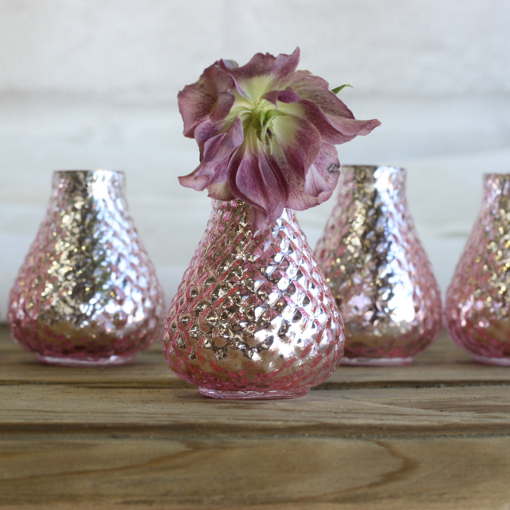 Mercury Pink Bud Vases – Set of 5 - available from @theweddingomd