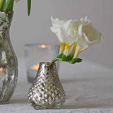 Mercury Silver Bud Vases for wedding place settings or tiny vases available from The Wedding of my Dreams @theweddingomd