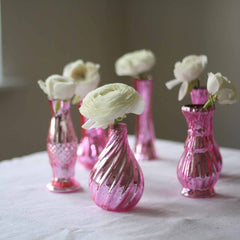 Mercury pink vases for weddings available from @theweddingomd