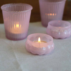 Milky pink tea light holders