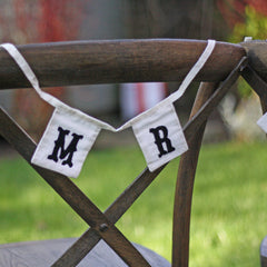Mr & Mrs Chair Bunting available from @theweddingomd