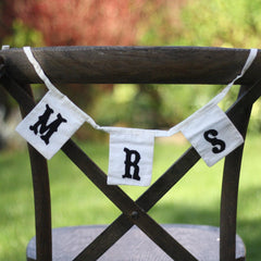 Mr & Mrs Chair Bunting for weddings available from @theweddingomd