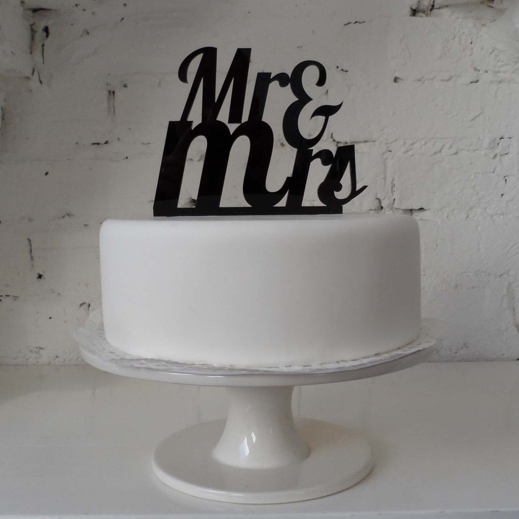 Mr And Mrs Acrylic Wedding Cake Topper - The Wedding Of My -5400