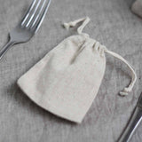 Natural Linen Wedding Favour Bag - available from @theweddingomd The Wedding of my Dreams