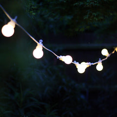 Globe String Lights for Outdoor Wedding - Extendable Length 6m