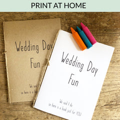 Wedding Day Fun - Kids Activity Book Download & Print