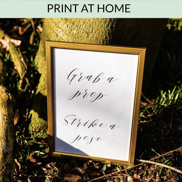 Grab A Prop Strike A Pose - Digital Download / Printable - available from The Wedding of my Dreams