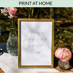 Please Sign Our Wedding Guest Book - Printable