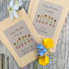 Letterbox Love - Personalised Sunflower Seeds - Bringing A Little Sunshine To Your Door