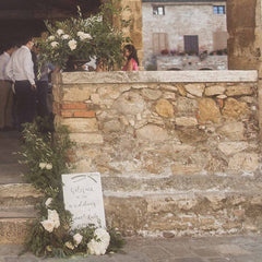 Personalised Wooden Whitewash Wedding Welcome Sign available from The Wedding of my Dreams