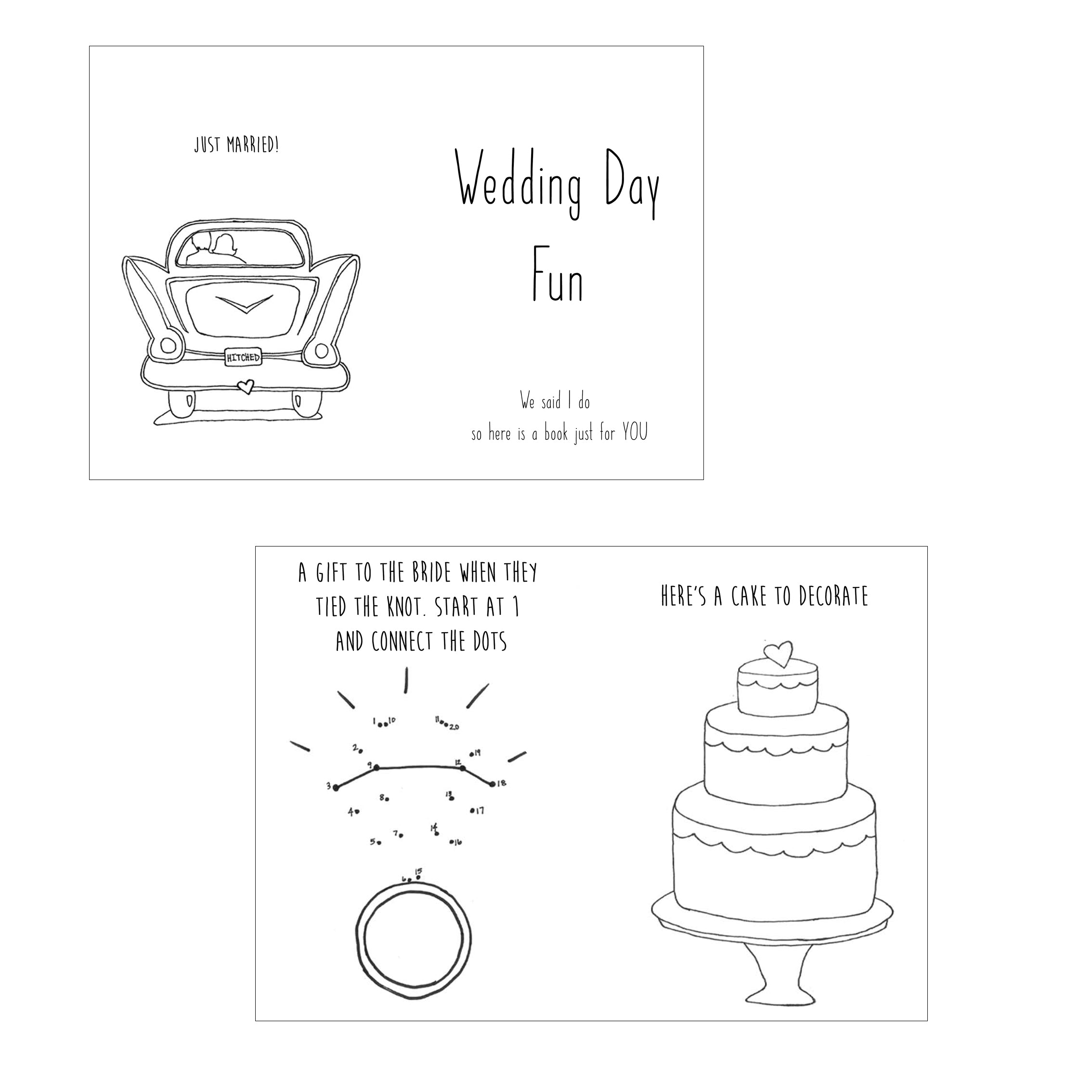 photo regarding Printable Wedding Activity Book identified as Wedding day Working day Exciting - Young children Sport E-book Obtain Print