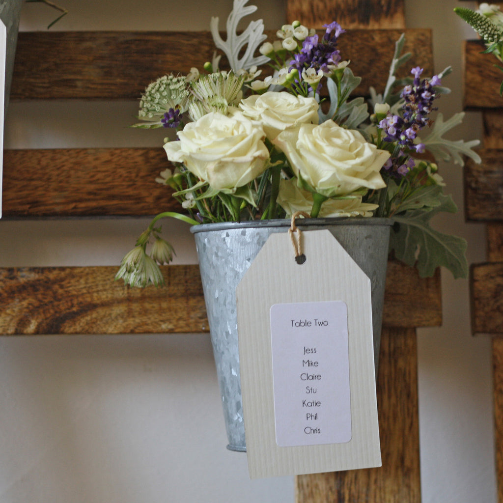 Rustic Wedding Table Plan With Flower Pots The Wedding Of My Dreams