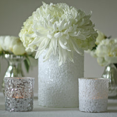 sequin tea light holders and vases