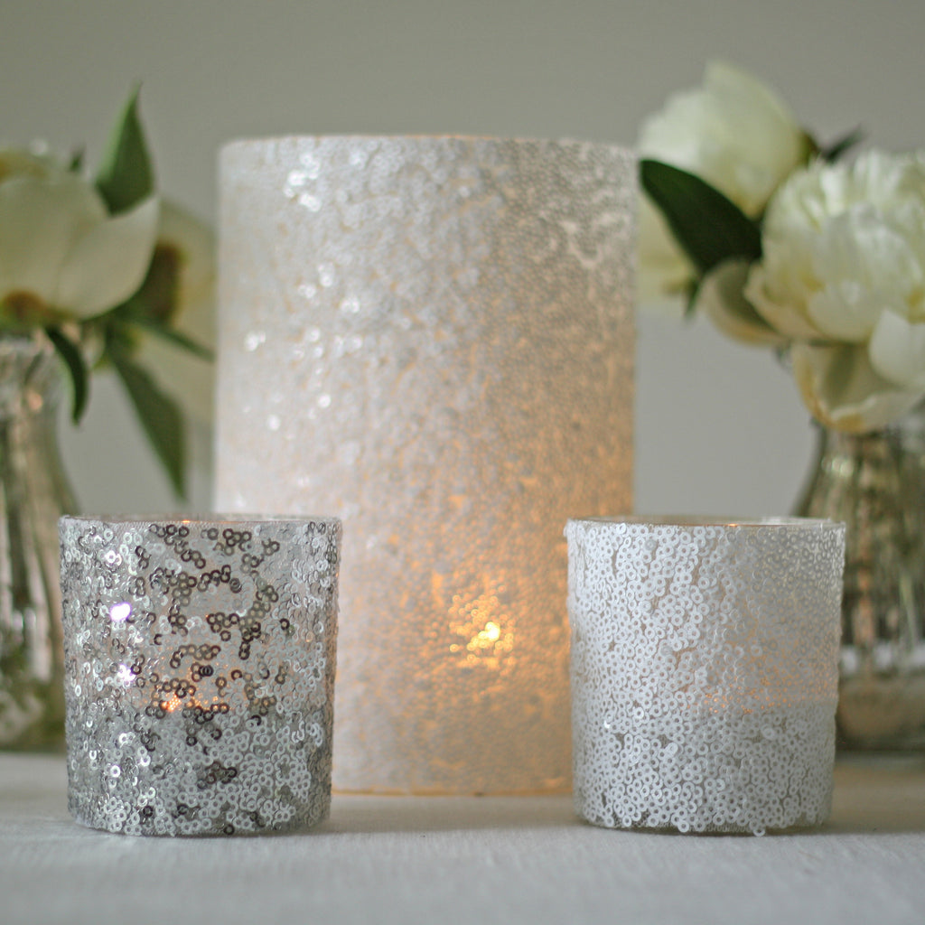 sequin tea light holders