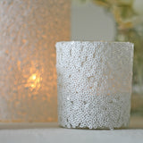 white sequin tea light holders