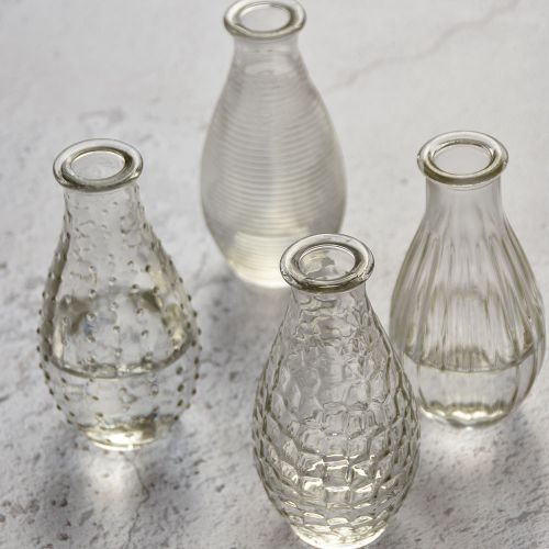 Set of 4 Glass Vases (2 Sizes) The Wedding of my Dreams