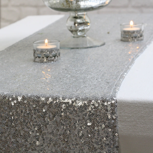 Silver Sequin Table Runner   Available From @theweddingomd The Wedding Of  My Dreams