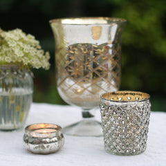 Silver Tea Light Holder Quilted Design The Wedding of my Dreams