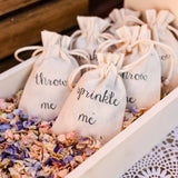 sprinkle me wedding confetti bags available from @theweddinomd