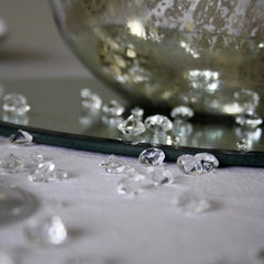 table crystals wedding