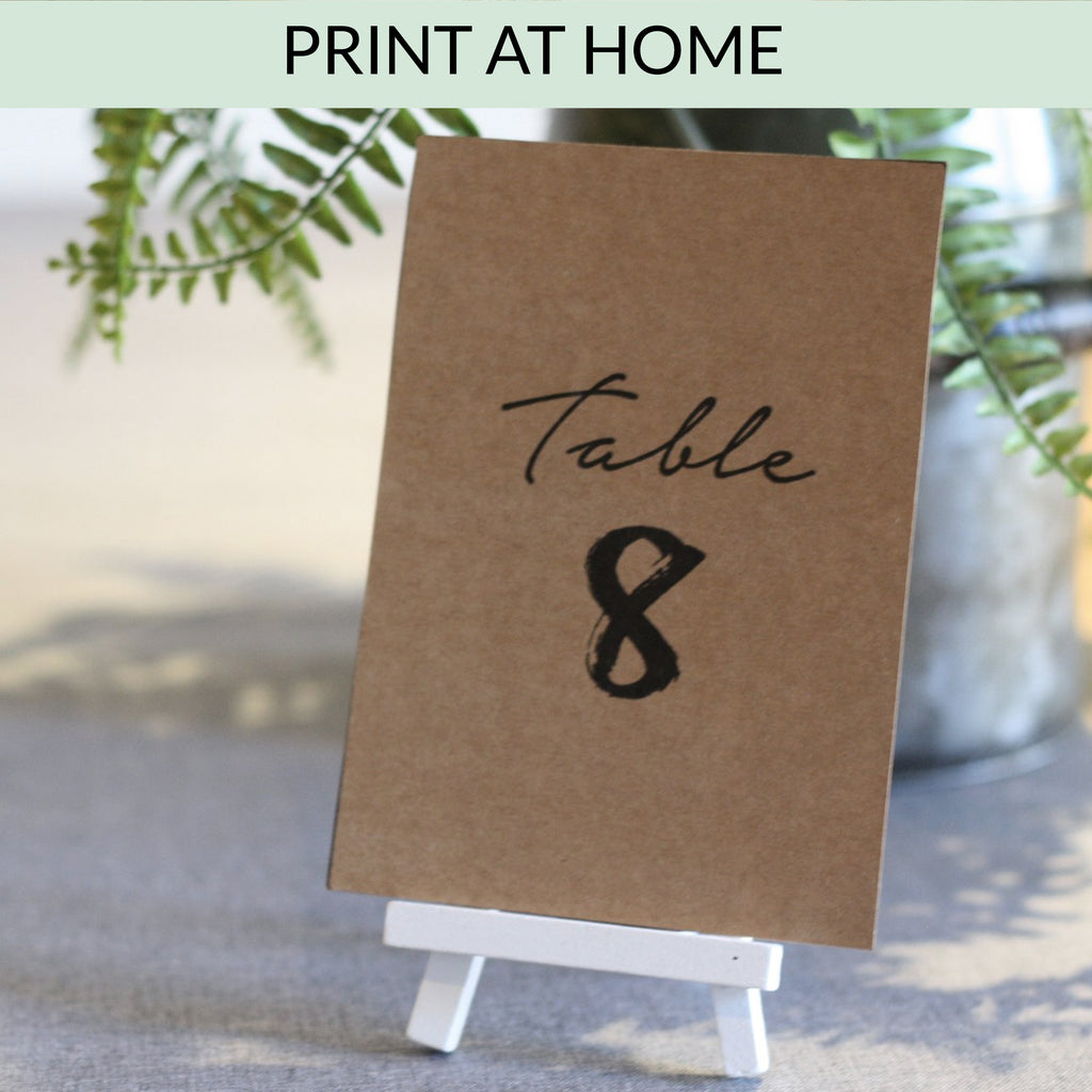 Printable: Table Numbers (Brush Stroke) 1 - 24 available from The Wedding of my Dreams