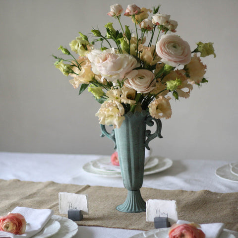 Tall Fluted Goblet Wedding Centrepiece