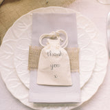 cotton wedding favour bag thank you