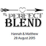 The Perfect Blend Wedding Favour Stickers