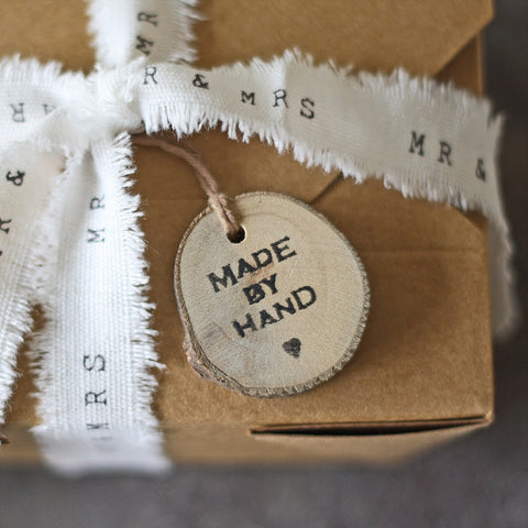 Tree Slice Gift Tag – Made By Hand
