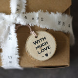 Tree Slice Gift Tag - rustic wrapping