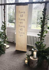 Artificial Tree Stumps For Rustic Wedding Styling